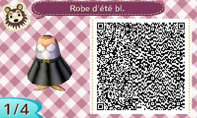 : Qr codes - robe blanche et noire