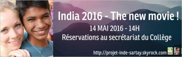 14 Mai 2016, 14h - Grande journée festive du projet Inde 2016, trouvez ici tous les renseignements !
