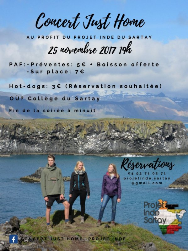 "Concert ""JUST HOME"" - A ne pas rater !"