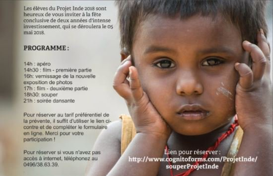 INVITATION - 05 MAI 2018 - JOURNEE INDE - VERNISSAGE - PROJECTION - SOUPER - SOIREE DANSANTE