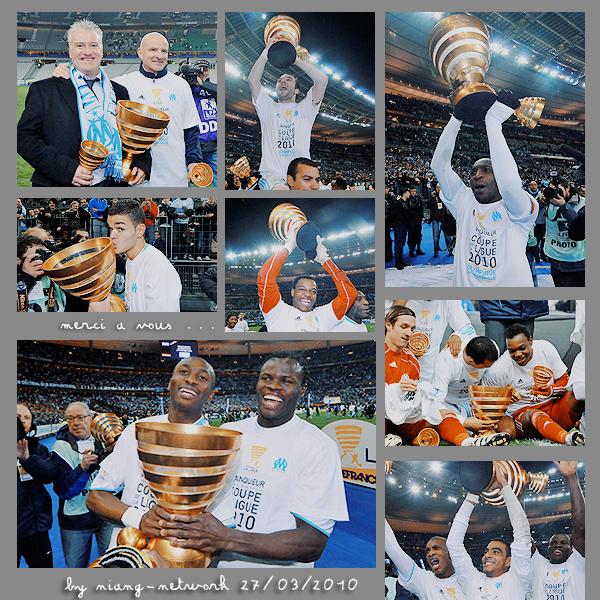 Marseille a remporté la coupe de la ligue 2010 de football