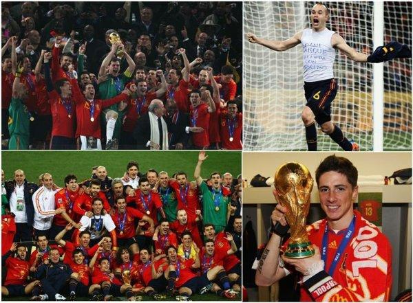 L'Espagne sacré championne du monde 2010 de football pour la 1ere fois de son histoire !