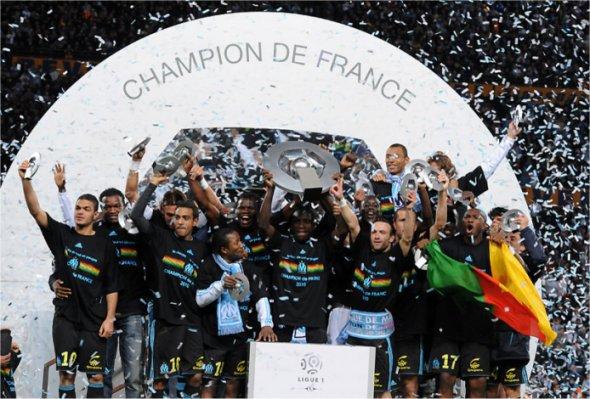 football 2010 : Marseille est sacré champion de France de ligue 1