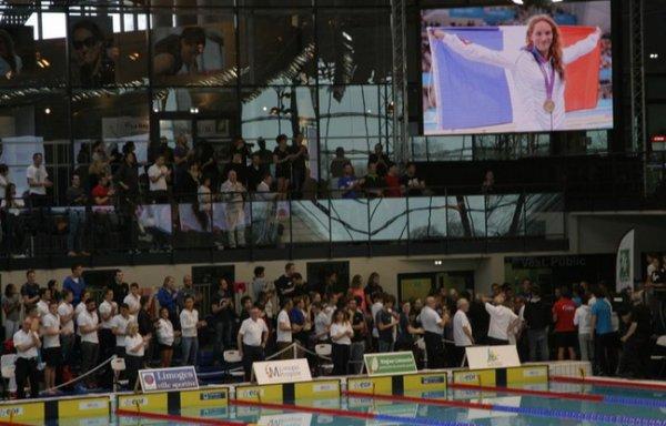 L'Hommage à Camille muffat aux championnat de france de natation 2015 à Limoges