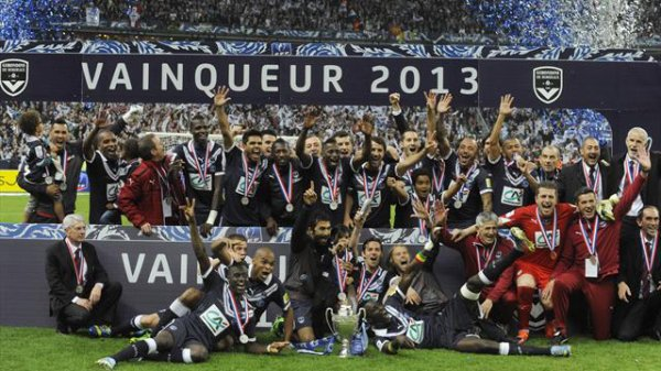 football saison 2012-2013 : Les girondins de Bordeaux remporté la coupe de france face à Evian thonon Gaillard !