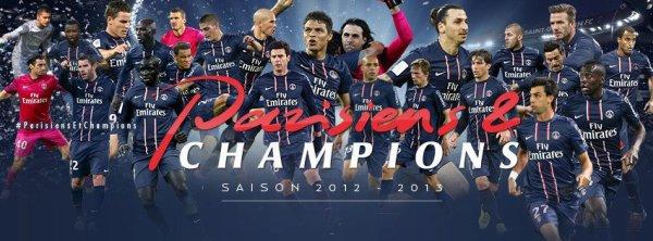 Football 2013 : Le PSG sacré champion de France pour la 3eme fois de son histoire