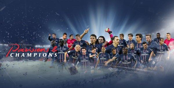 Football 2014 : Le PSG sacré champion de France pour la 4eme fois de son histoire