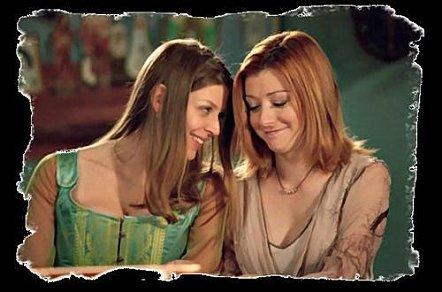 willow et tara mon premier couple lesbi préféré lol elles sont trop mimi