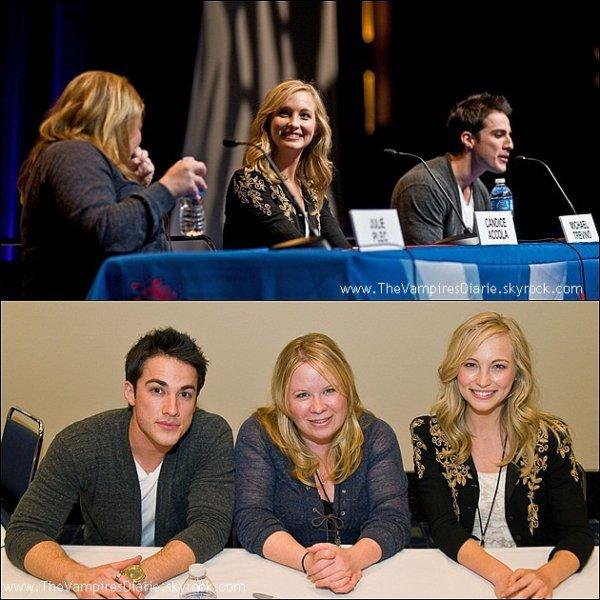 Le 19 mars 2011  Michael & Candice  ainsi que Julie Plec la productrice de la serie  étaient présents au Chicago Comic & Entertainment Expo pour une séance de dédicasses  ainsi que des rencontres avec les differents fans present !