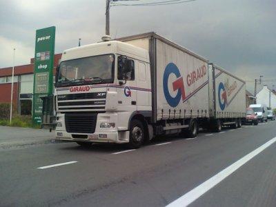 un giraud en camion remorque bcp les beige kui no nn