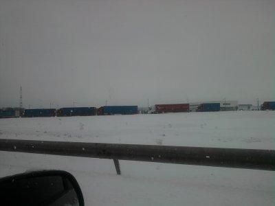 camion bloque sur la 26