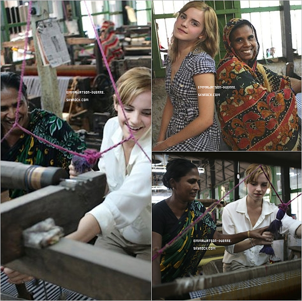 . Découvre de nouvelles photos lors de son voyage au Bangladesh pour People Tree..