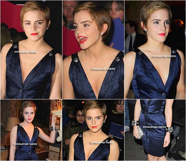 . 11 Février 2011 : Suite des photos d'Emma à la Pre-BAFTA Party .  En channel, la classe !.