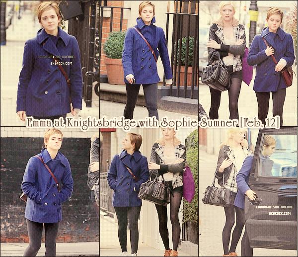. 12 Février 2011 : Tiens, on a déjà vu ce manteau bleu il n'y a pas longtemps ! Coup de ♥ pour le sac vintage. _