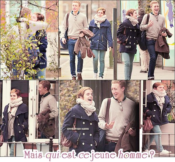 . 25 Février 2011 : Retour au mois de Février..Emma marchait dans les rues de Londres près de chez elle en compagnie d'un mystérieux garçon..En tout cas,notre Emma avait l'air de bien rigoler ! TOP ♥ /FLOP ? =D.