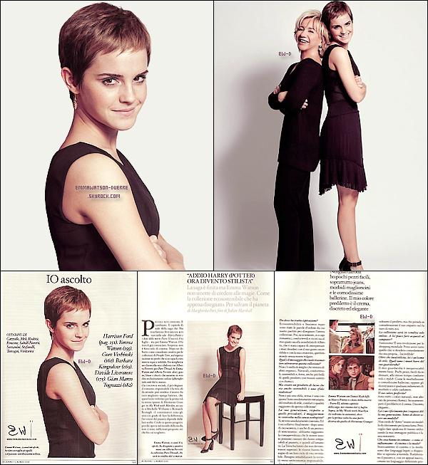 """. 13 Mars 2011 : Quelques aperçus du photoshoot d'Emma pour le magazine """"Io Donna"""" avec aussi trois scans ! You like ? Moi, perso je le trouve un peu trop simple mais quand même jolie !."""