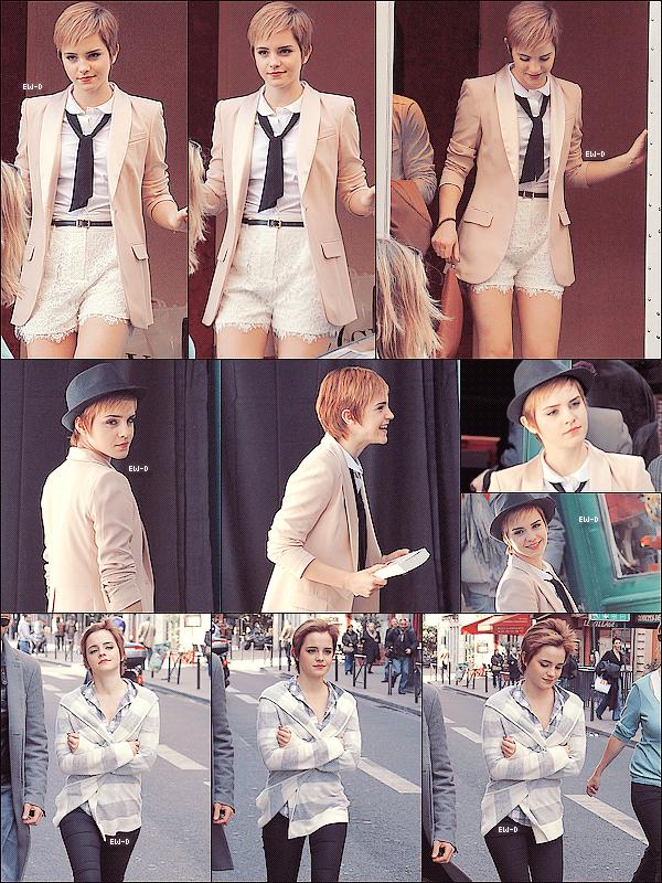 . 15 Mars 2011 : Emma sur le shooting de Lancôme à Paris. OMG ce que j'aurais aimé être là ! ♥.