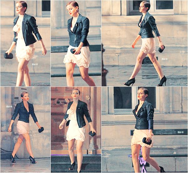 . 14 Mars 2011 : Emma sur le shooting de Lancôme à Paris. OMG Elle est superbe ! ♥.