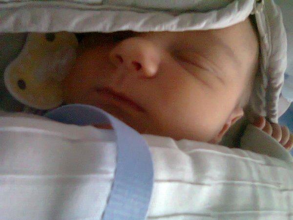 notre fils a sa naissance