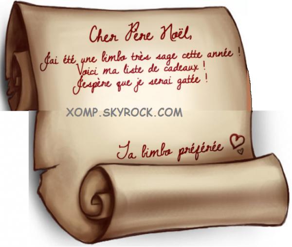 Exceptionnel Lettre au Père Noël - Astuces pour Ma bimbo LD05