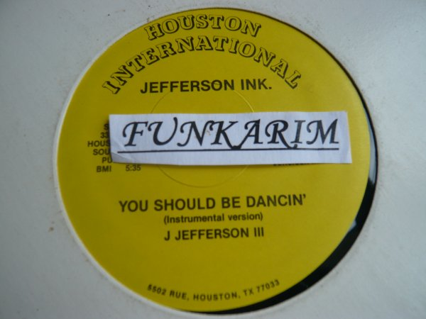 "JEFFERSON INK "" YOU SHOULD BE DANCIN' ""   MAXI"