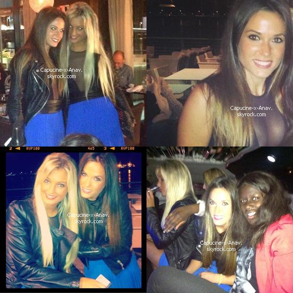 Aurélie et Capucine pendant une soirée, le 12 avril 2013 :