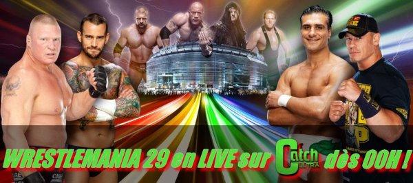 WrestleMania 29 en LIVE cette nuit dès 00h !