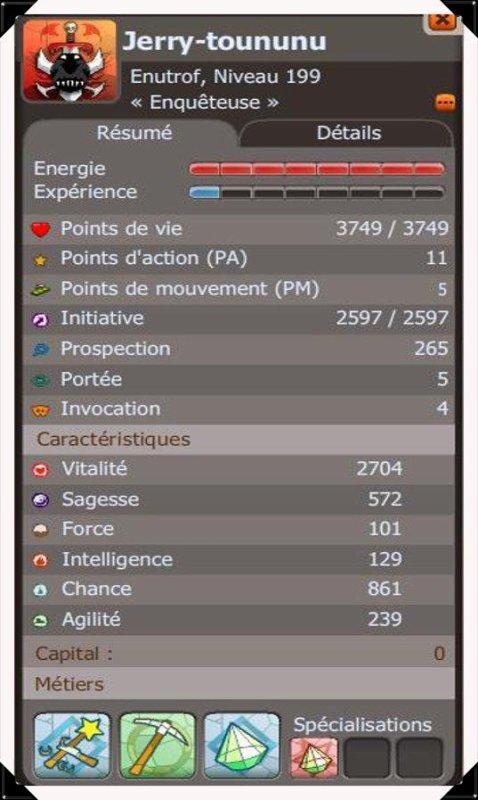 Stats de mon Enu Eau 199 !