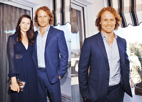 • • • Caitriona et Sam Heughan étaient présent aux Vanity Fair And Burberry BAFTA and the Britannia Awards à Los Angeles.  • • • 29 Octobre 2014