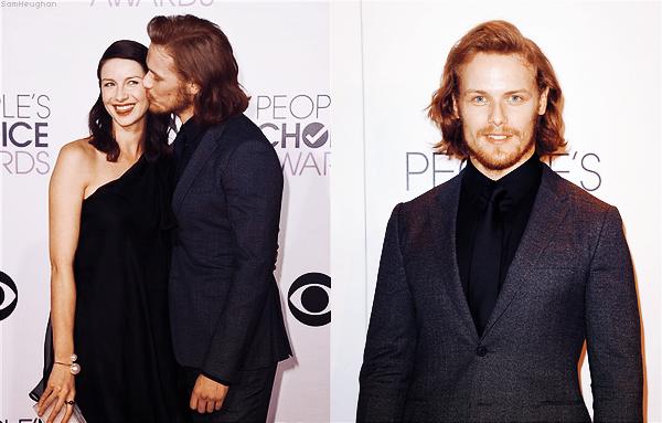 • • • Sam était présent aux People's Choice Awards 2015 avec sa partenaire de Outlander Caitriona Balfe• • • 7 Janvier 2015