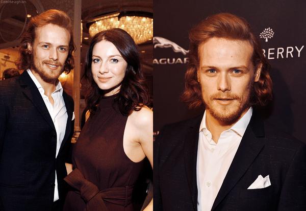 • • • Sam était présent aux BAFTA Los Angeles Tea Party avec sa partenaire de Outlander Caitriona Balfe• • • 10 Janvier 2015