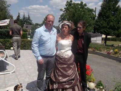 la mariee avec ces fils