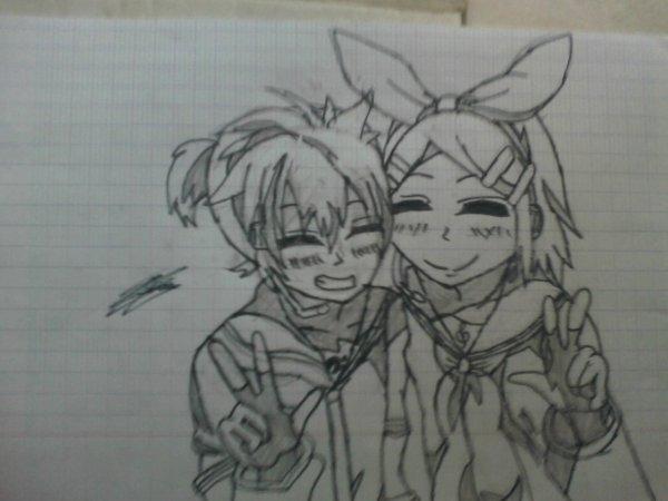 Len et Rin et c moi ki les a dessiner ^^
