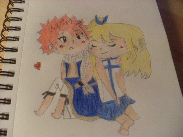 Fairy tail Natsu and Lucy (délire avec maryne)Le Nalu!