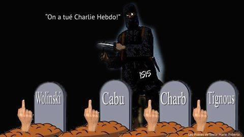 HOMMAGE A CHARLY HEBDO  ASSASINE !!!!!!  PAIX A LEURS AMES PENSEES A LEURS FAMILLE