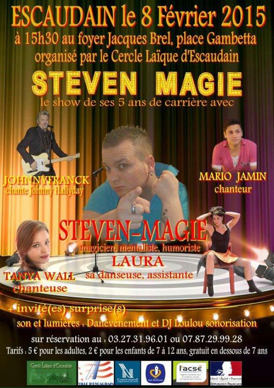 Show 5 ans de carrière de Steven-Magie