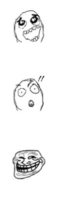 Je ne vois pas la même chose que tout le monde je crois bien -Trollface problem-