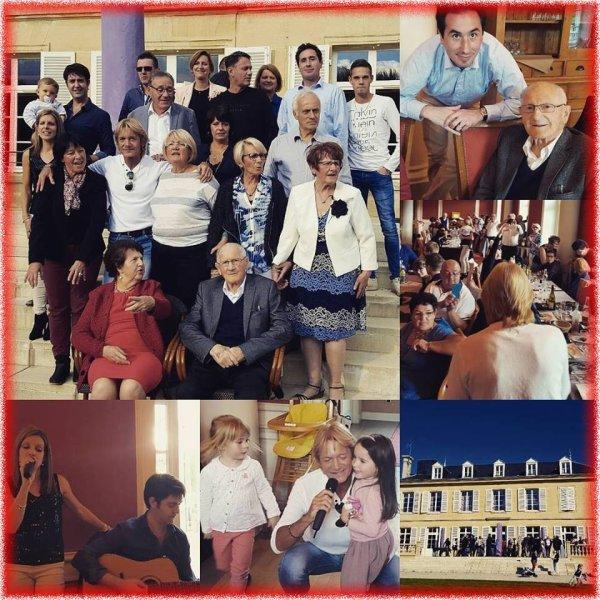 PHOTOS  DE  FAMILLE  ,  DIMANCHE  MIDI  !  REGARDEZ  CE  MAGNIFIQUE  CIEL  BLEU  AU  DESSUS  DU  CHÂTEAU  .....