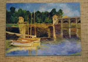 LE PONT D'ARGENTEUIL (d'après Claude Monet)
