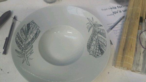 Assiette élégante
