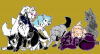 Nyméria, Luna, Asha, Olathe, Mickaela, Itachi, Jera et Nad
