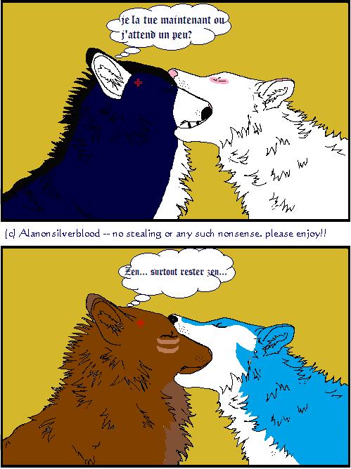 """Got ya nose!!""(Nyméria et Mickaëla, Kurushimi et Nad)"