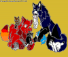 Wolf Family's (Nyméria, Mickaëla, Bley, Nad, Neptune, Itatchi, Killian et Yeux du Diable)