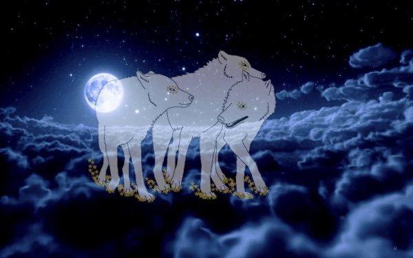 """Dessin pour le défi n°1 de la meute """"Les loups-étoiles protecteurs de la meute"""
