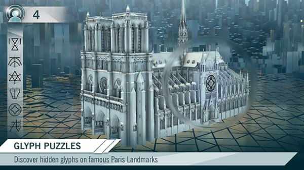 Les glyphes dans Assassin's creed unity Companion app