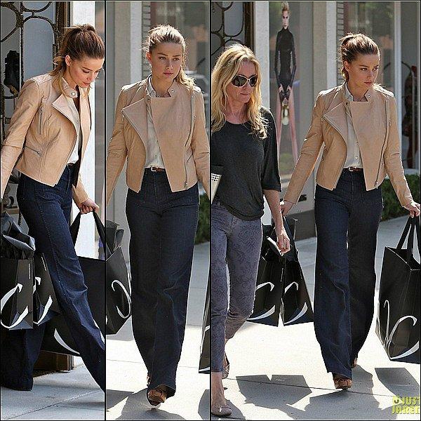 . 02/10/12:  Amber toute séduisante allant dans un restaurant « Mr. Chow » à Beverly Hills.Top? .