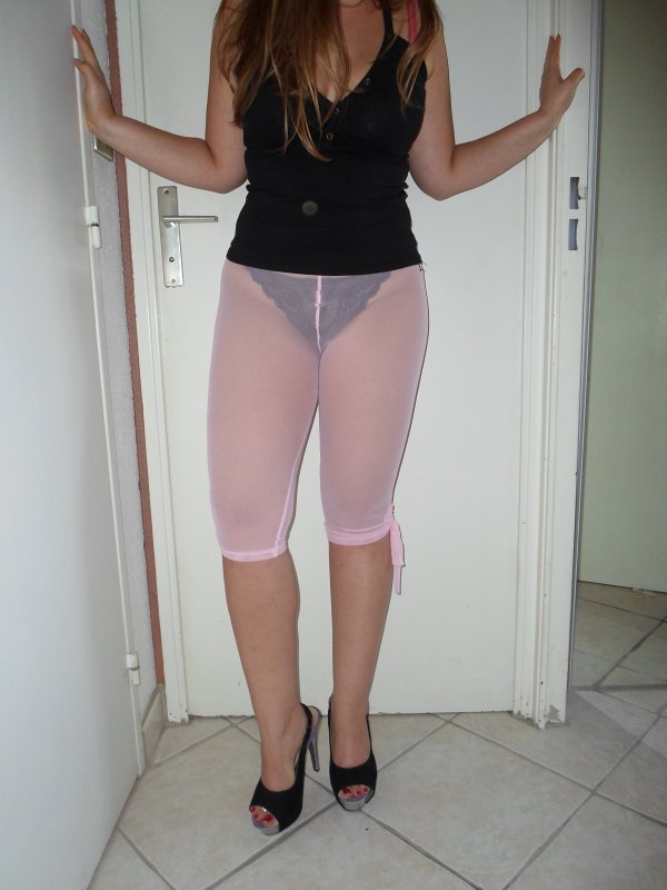Legging transparent & peep toes