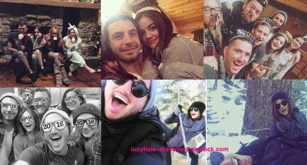 Lucy, son Anthony et ses amis se sont rendus à la montagne pour passer le jour de l'an ensemble et profiter de la neige.