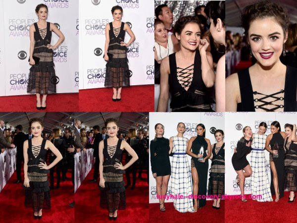 le 6 janvier 2016 - la manfique lucy et ses co-stars de PLL se sont rendus à la cérémonie des People's Choice Awards à LA.