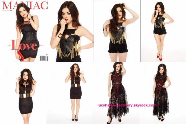 voici un photoshoot de lucy pour Maniac Magazine datant 2012